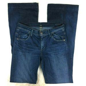 COH Hutton Mid Rise Wide Leg Stretch Trouser Jeans